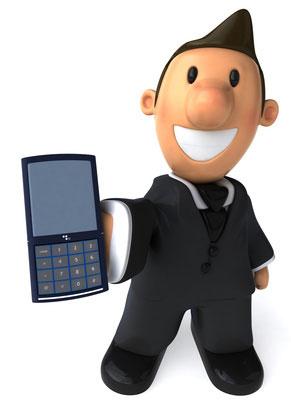 Business Man au téléphone
