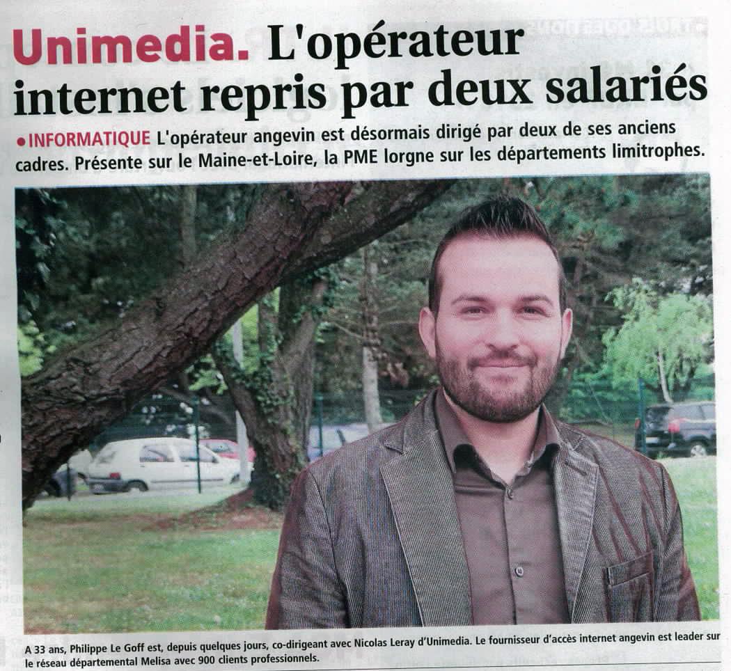 Reprise d'UniMédia par Nicolas LERAY et Philippe LE GOFF en avril 2014